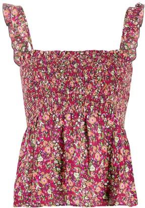 BA&SH Floral Print Blouse