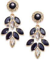 Vera Bradley Gold-Tone Crystal Glitz Chandelier Earrings