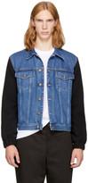 McQ Blue & Black Sophisticated Denim Jacket