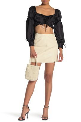 Dee Elly Faux Leather Mini Skirt