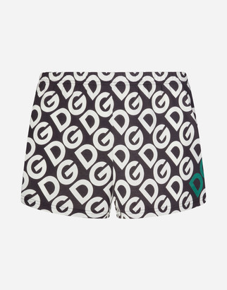 Dolce & Gabbana Jersey Boxers With Logo Print