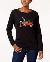 Karen Scott Embroidered Sweatshirt, Created for Macy's