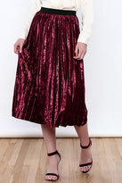THINK CLOSET Very Velvet Skirt