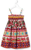 Dolce & Gabbana 'Carretto Con Rose' smocked dress - kids - Cotton - 2 yrs