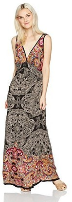 Angie Women's Juniors V-Neck Adjustable-Strap Maxi Dress