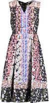 Peter Pilotto Printed silk-blend brocade midi dress