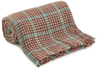 Lovat & Green Mint Houndstooth scarf