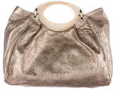 Marni Enamel Leather Satchel