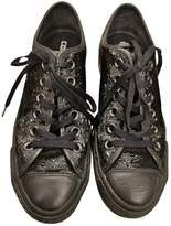 Converse Black Leather Trainers