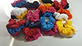 N2 36 pcs Elastic cotton Fabric Hair Scrunchies Ponytail Holder Band (Assorted Colors).
