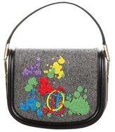 Olympia Le-Tan Beaded Twill & Leather Crossbody Bag
