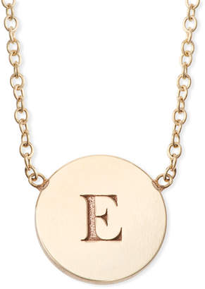 Chicco Zoe 14k Personalized Initial Engraved Disc Pendant Necklace
