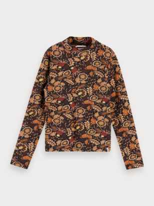Scotch & Soda Long sleeve t-shirt with all-over print | Girls