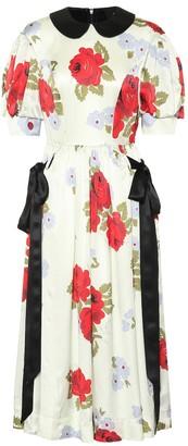 Simone Rocha Floral-printed silk dress