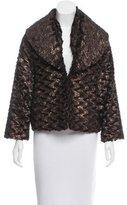 Alice + Olivia Metallic Faux Fur Jacket