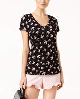 Maison Jules Bird-Print V-Neck Top, Created for Macy's