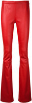 Pierre Balmain bootcut leather trousers
