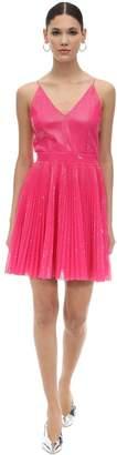 MSGM Pm Sequined Techno Mini Dress