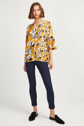 French Connection Aventine Light Pleat Sleeve Top