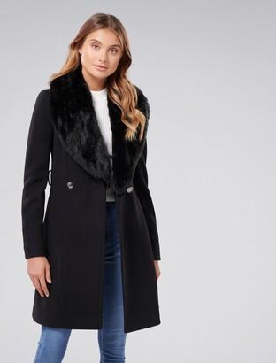 Forever New Emilia Skirt Coat - Black - 4