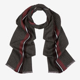 Bally Striped And Checked Scarf Red, Men's mixed viscose scarf in multi-red