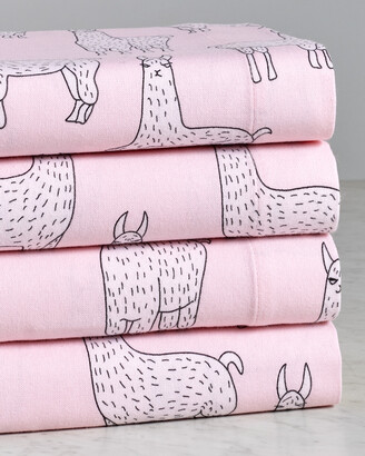 Belle Epoque Lama Print Flannel Sheet Set