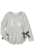 Truly Me Toddler Girl's Love Embellished Graphic Tee