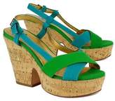 Kate Spade Green & Teal Cork Wedges