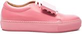 Acne Studios Leather Adriana Turnup Sneakers