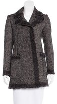 Derek Lam Tweed Notch-Lapel Coat
