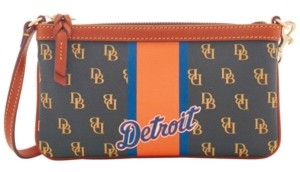 Dooney & Bourke Detroit Tigers Large Slim Stadium Wristlet