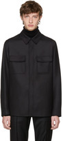 Brioni Black Wool Overshirt