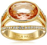 Cole Haan Oval Center Stone Pave Bar Ring, Size 8
