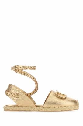 Valentino VLogo Ankle Strap Flat Shoes