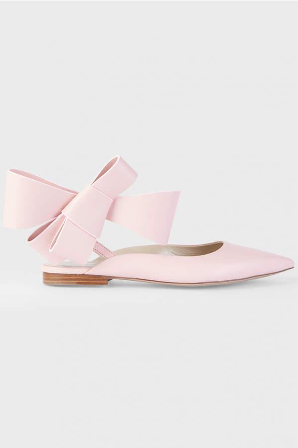 DELPOZO Iconic Bow Ballerina Flats