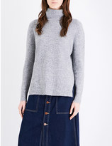 Mo&Co. Oversized knitted turtleneck jumper