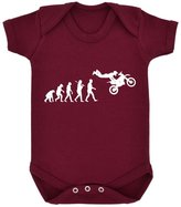 1StopShops Evolution of Freestyle Motocross Baby Bodysuit with White Print