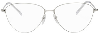 Balenciaga Silver Cat-Eye Glasses