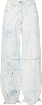 Off-White Bow-Detailed Resist-Dyed Twill Pants