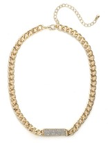 BaubleBar Gold Pave ID Necklace