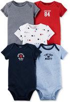 Carter's Baby Boys' 5-Pack Short-Sleeve Little All-Star Sports Bodysuits