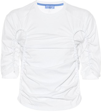Thierry Mugler Ruched cotton top