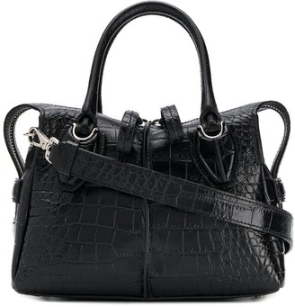 Tod's crocodile effect D-Styling tote bag