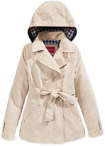 London Fog Hooded Trench Coat, Big Girls (7-16)