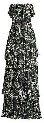 Flor et. al Women's Charlotte Tiered Floral Strapless Gown