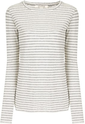 Nili Lotan Striped Long-Sleeve Top