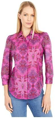 J.Crew Serena Puff Sleeve Shirt in Liberty Paisley (Pink/Purple) Women's Clothing