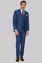 Moss Bros Tailored Fit Peacock Blue Suit