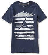 Jordan Big Boys 8-20 Five Stripes Crew Neck Short-Sleeve Tee