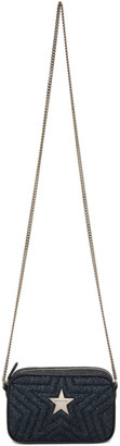 Stella McCartney Blue Glitter Mini Star Crossbody Bag
